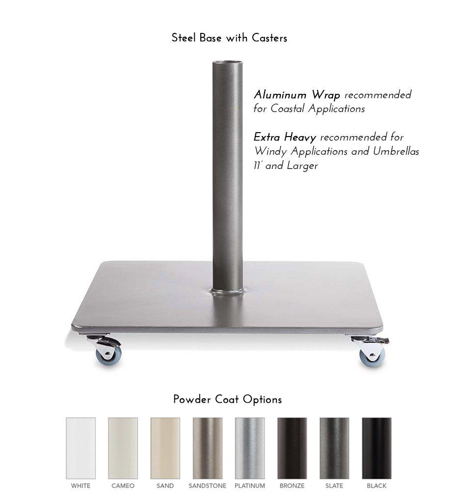 Steel Base with Casters