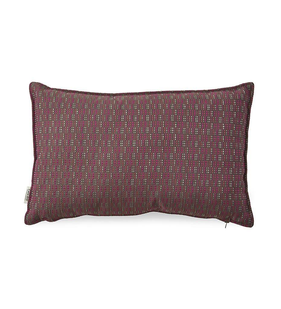 Juniper House-Cane-Line Stripe Pillow- Multi Pink