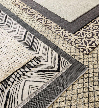 lifestyle, Dash and Albert Tasha Ivory/Black Woven Wool Rug
