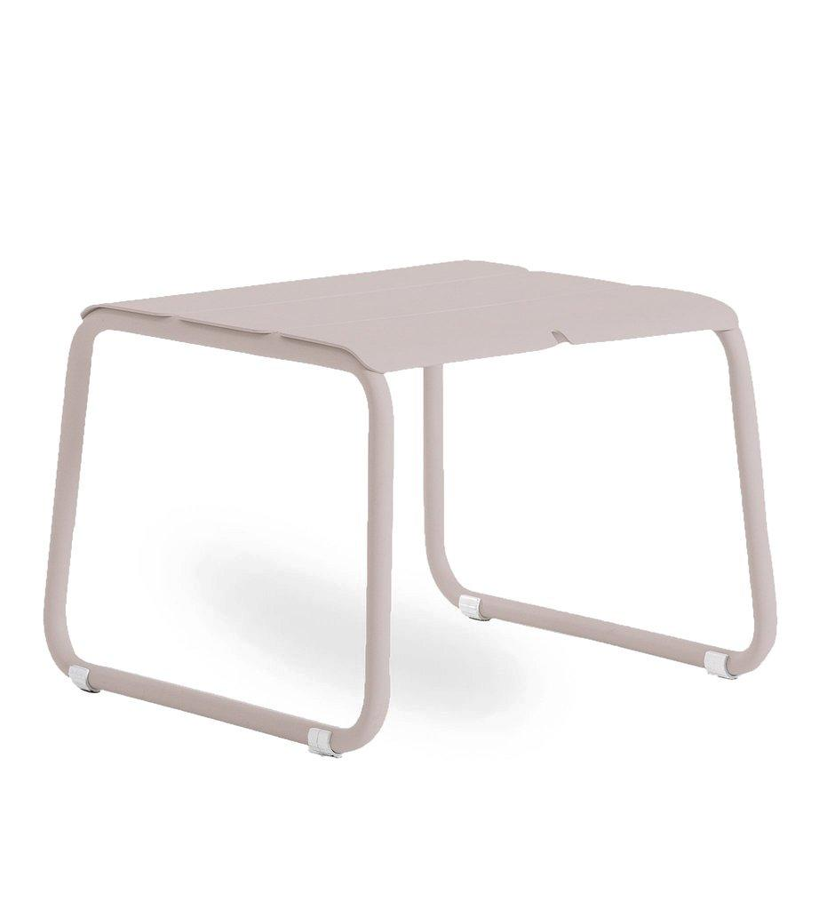 Oasiq | Corail Footstool / Coffee Table | Pink Pastel Aluminum | Outdoor