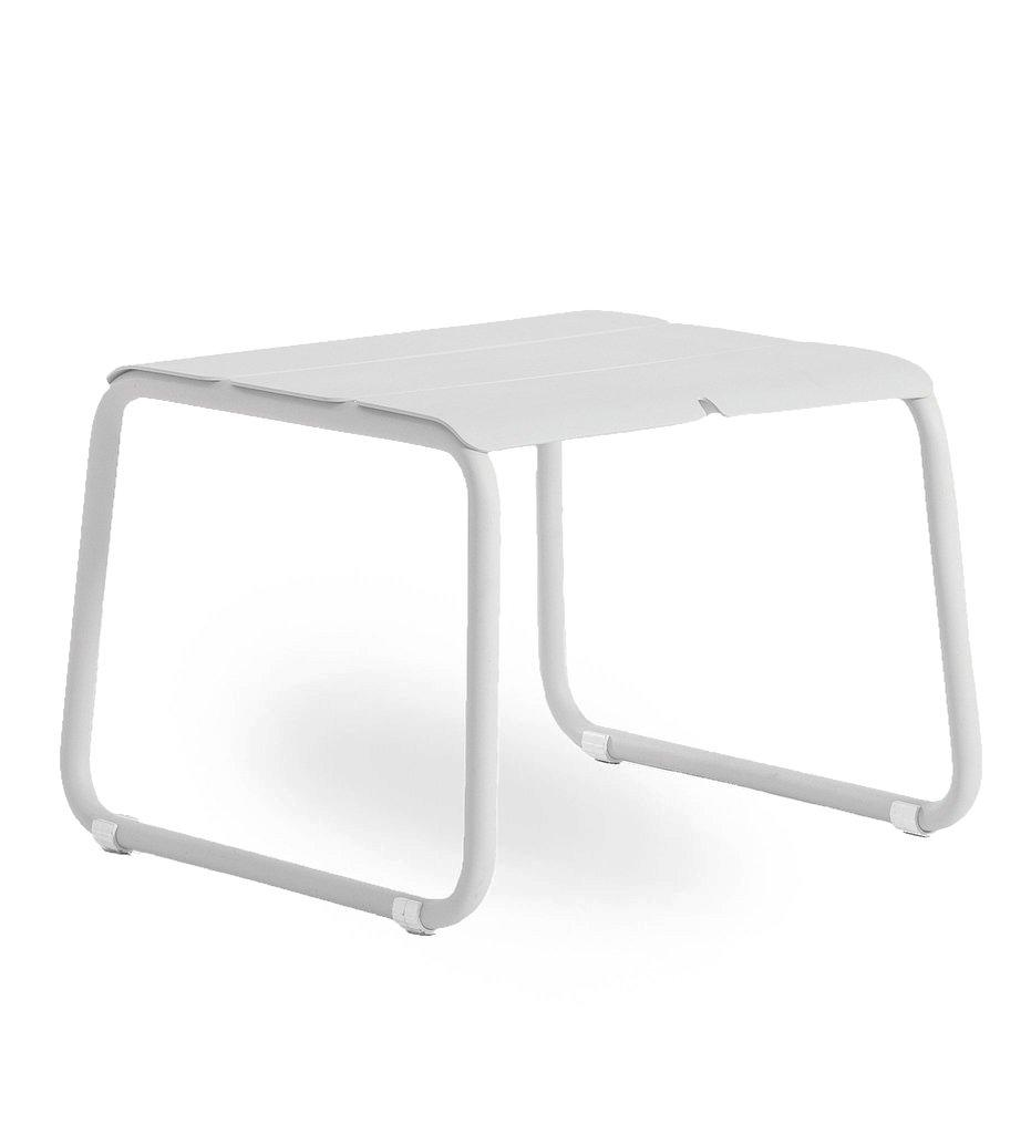 Oasiq | Corail Footstool / Coffee Table | White Aluminum | Outdoor