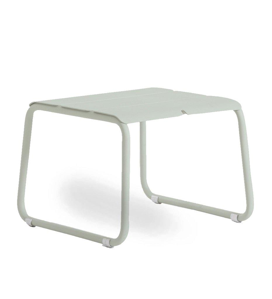 Oasiq | Corail Footstool / Coffee Table | Pastel Green Aluminum | Outdoor