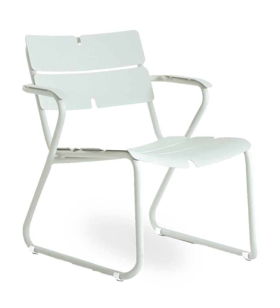 Oasiq | Corail Lounge Chair - Arm | Green Pastel Aluminum | Outdoor