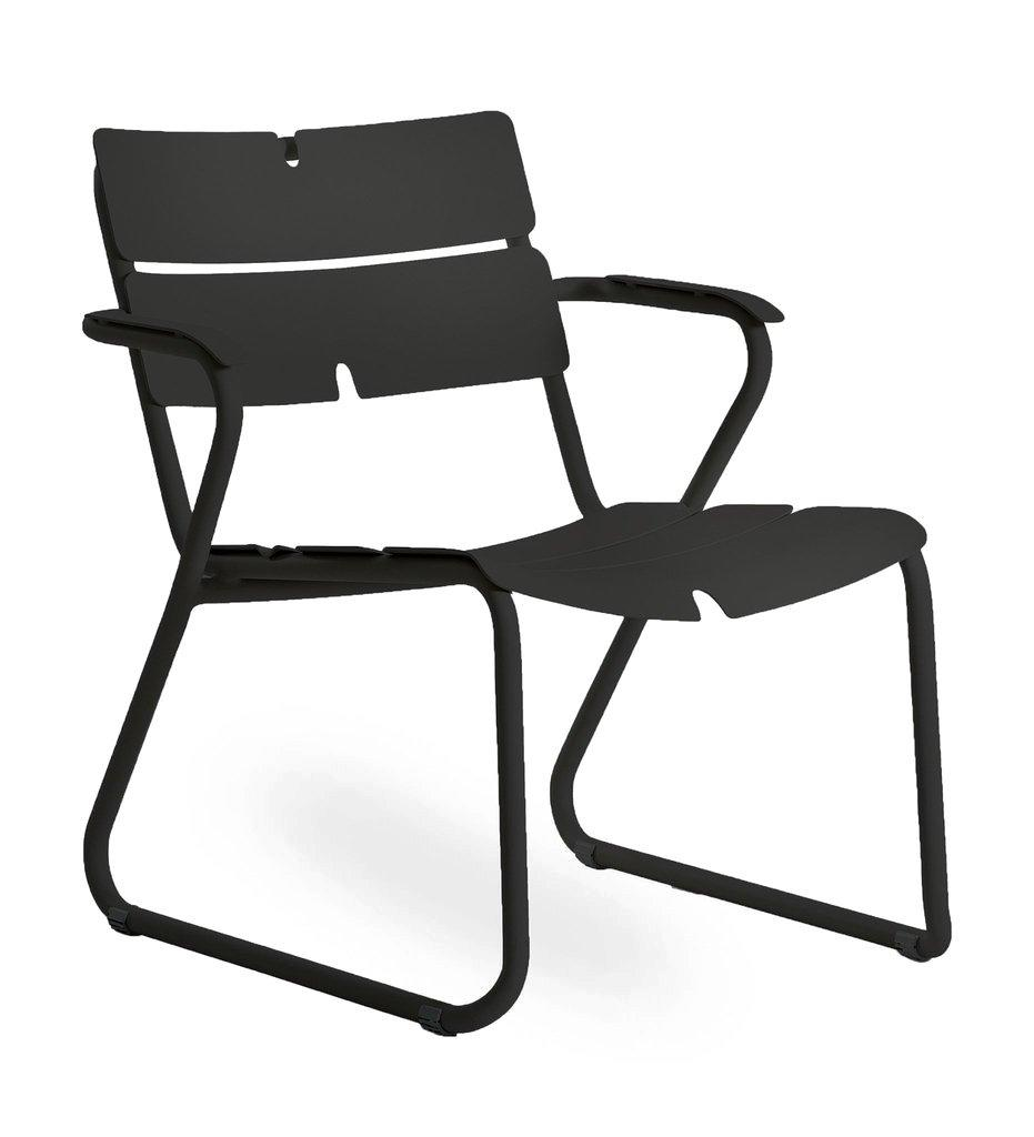 Oasiq | Corail Lounge Chair - Arm | Black Anthracite Aluminum | Outdoor