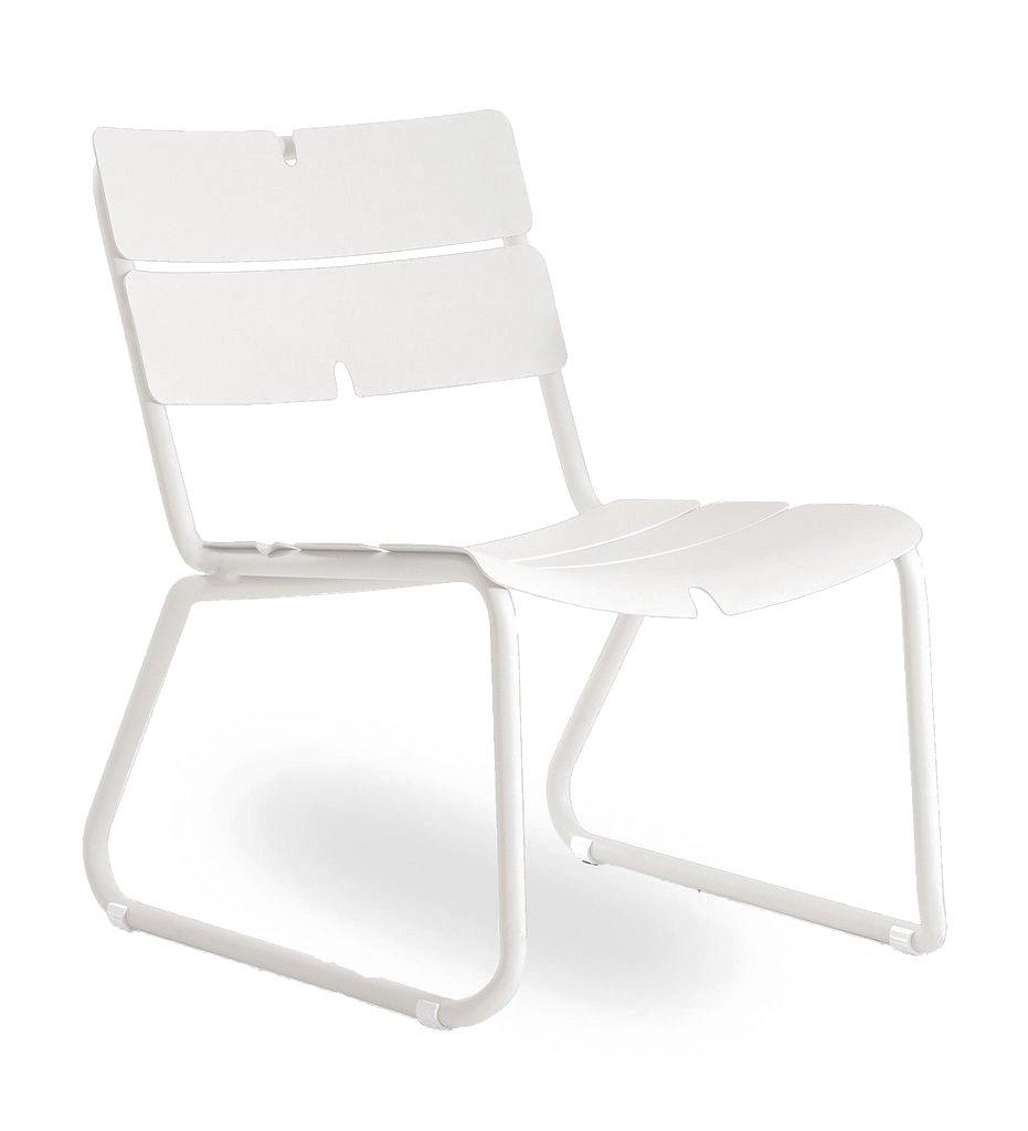 Oasiq | Corail Lounge Chair | White Aluminum | Outdoor