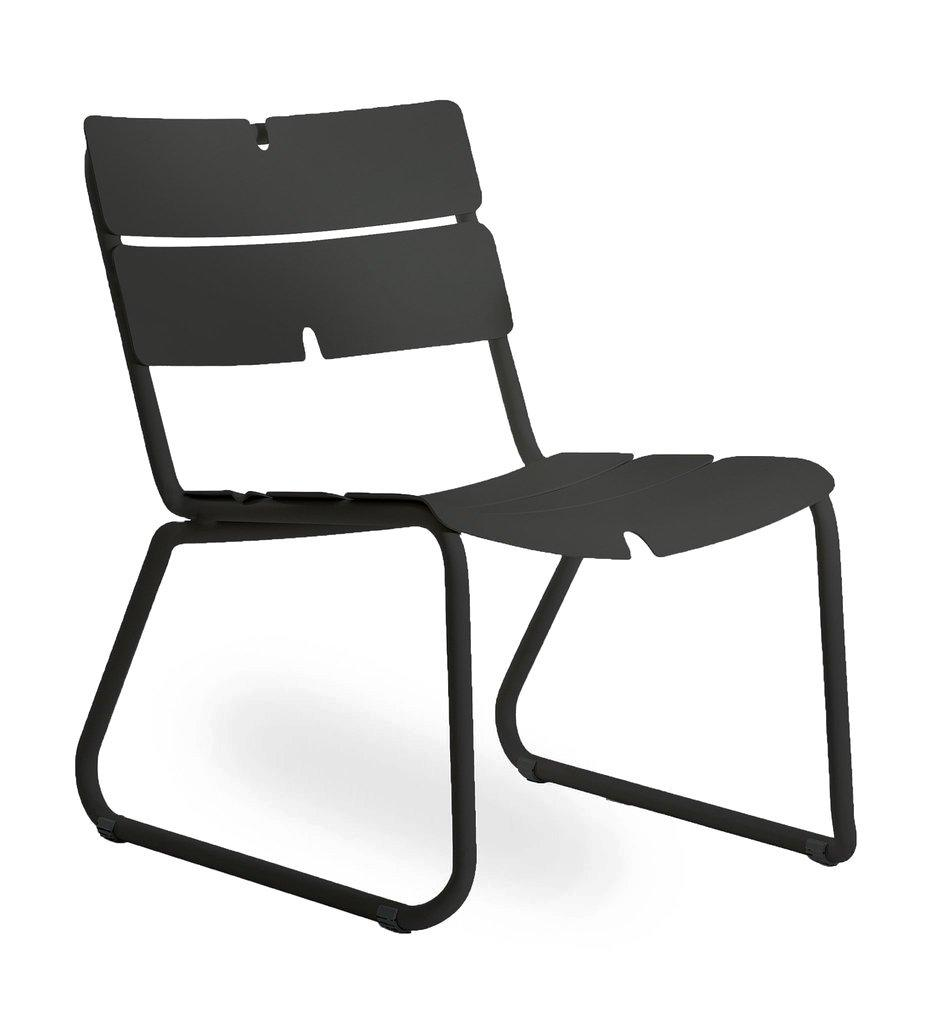 Oasiq | Corail Lounge Chair | Black Anthracite Aluminum | Outdoor