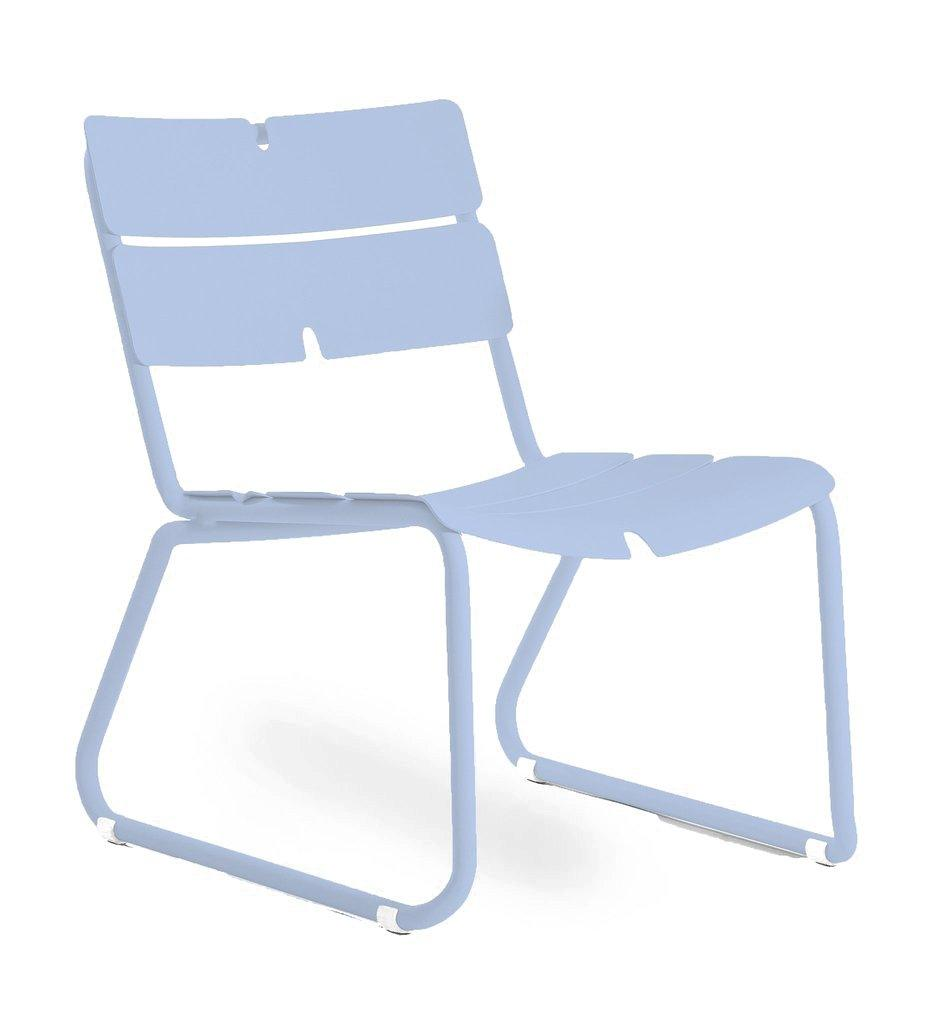Oasiq | Corail Lounge Chair | Pastel Blue Aluminum | Outdoor