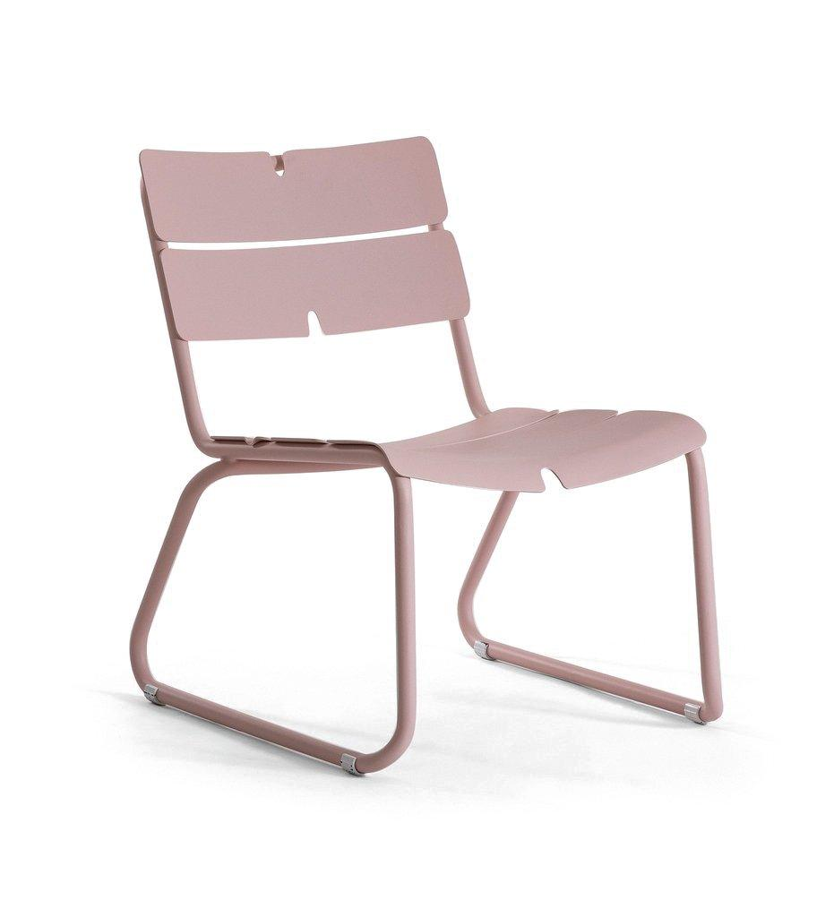 Oasiq | Corail Lounge Chair | Pastel Pink Aluminum | Outdoor