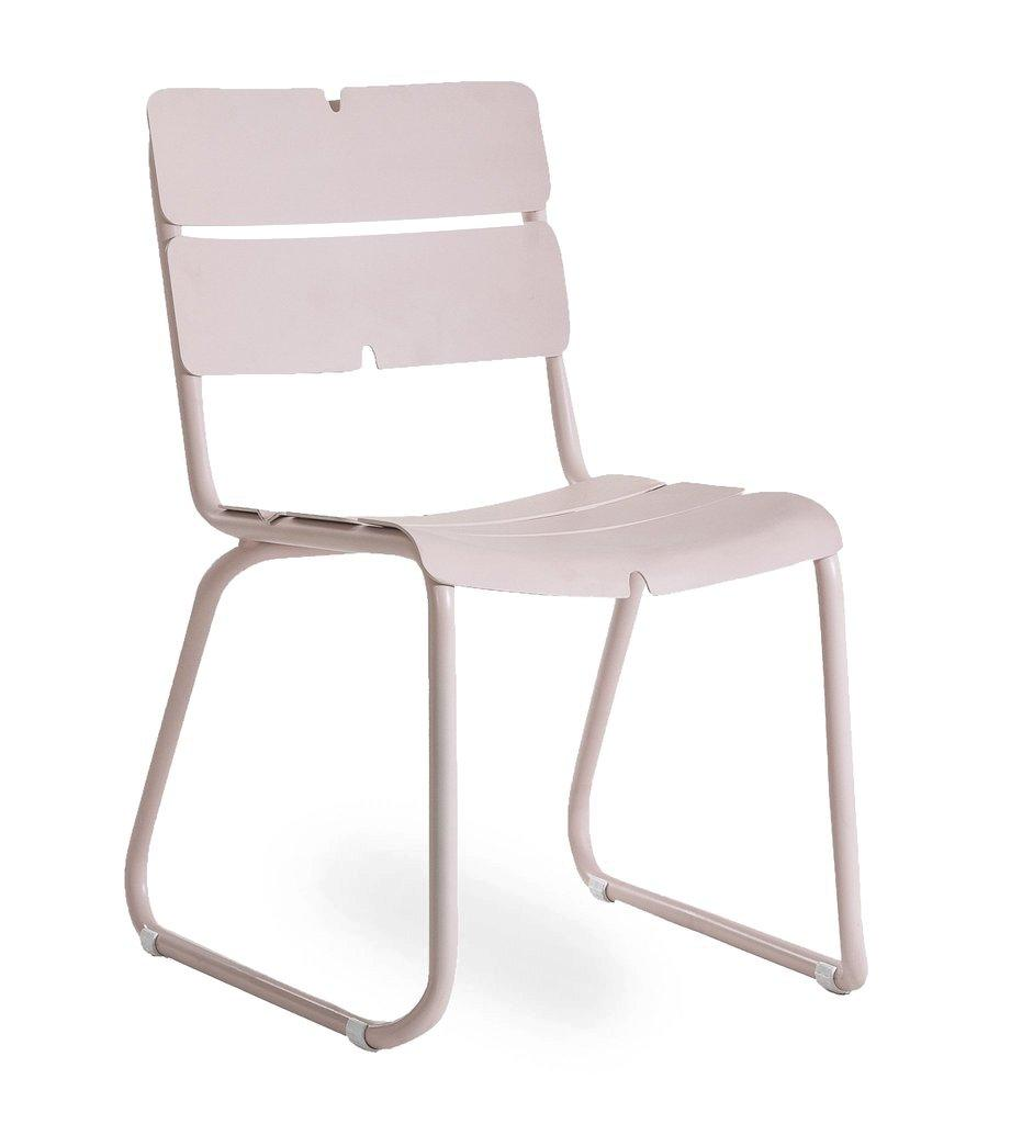 Oasiq, Corail Side Chair - Pink Pastel Aluminum, Outdoor