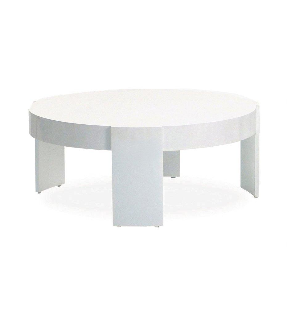 Oasiq, Delancey Madison Coffee Table - White Powder Coated Aluminum, Outdoor