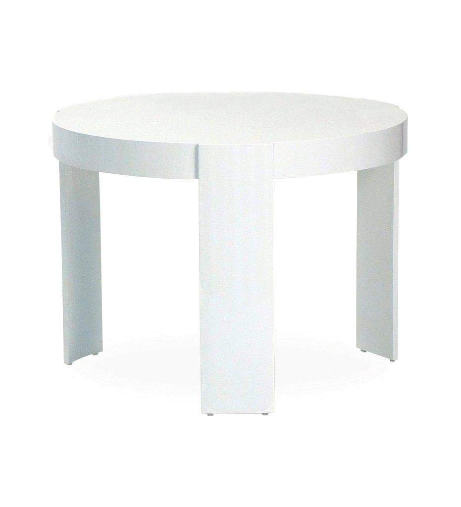 Oasiq, Delancey Madison Side Table - Large  - White Powder Coated Aluminum, Outdoor