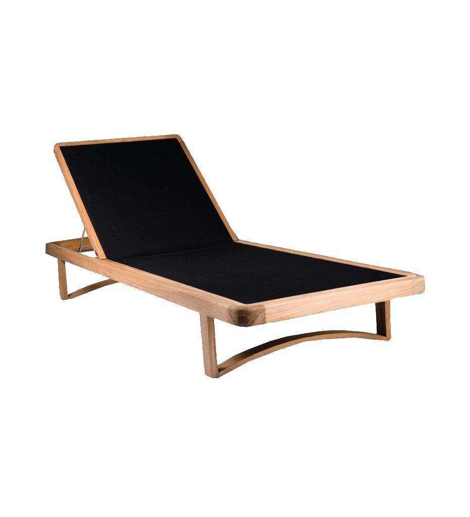 OASIQ Limited 300 Chaise - Teak Base/Black Mesh