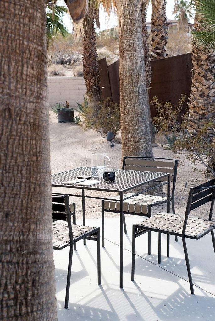 lifestyle, Stephen Kenn Outdoor Metal and Webbing Dining Chair