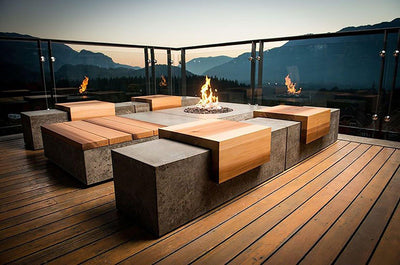 lifestyle, Sticks + Stones Social Series Fire Pit - Square