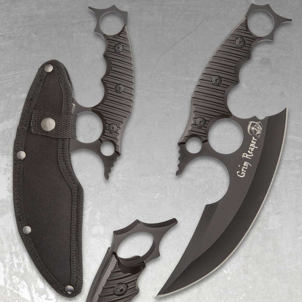Damascus Ulu with Stag Handle - Blade City