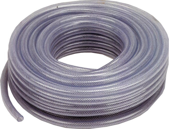 "1/4"" - 6.3mm ID Clear Reinforced PVC Hose Per Metre Length"
