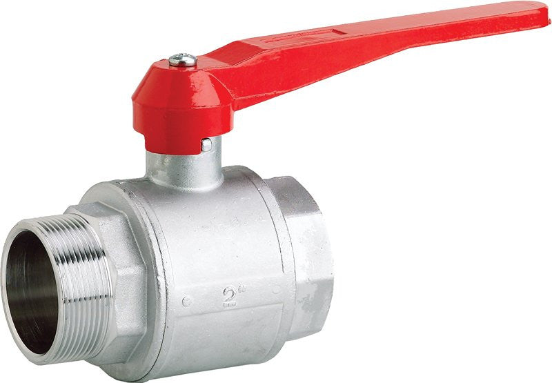 Plated Brass Lever Handled Male x Female Ball Valve