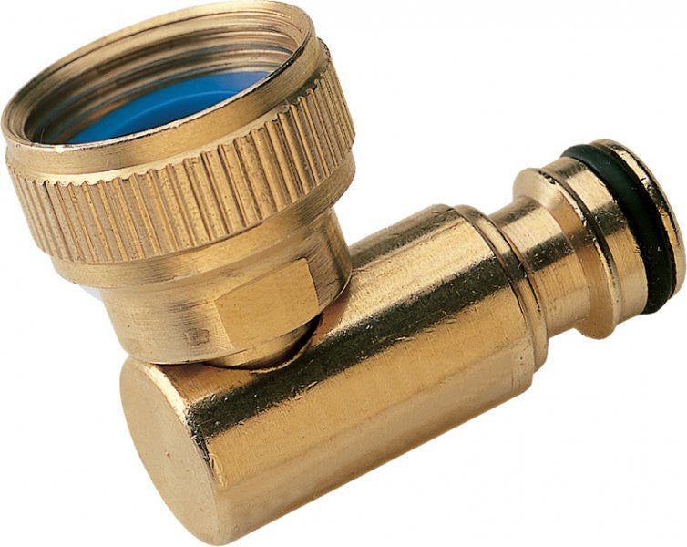 Brass Garden Hose Quick Release Hozelock 90° Swivel Adaptor