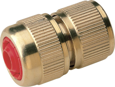 Brass Garden Hose Female Quick Release x Hozelock Connector Coupling with Valve