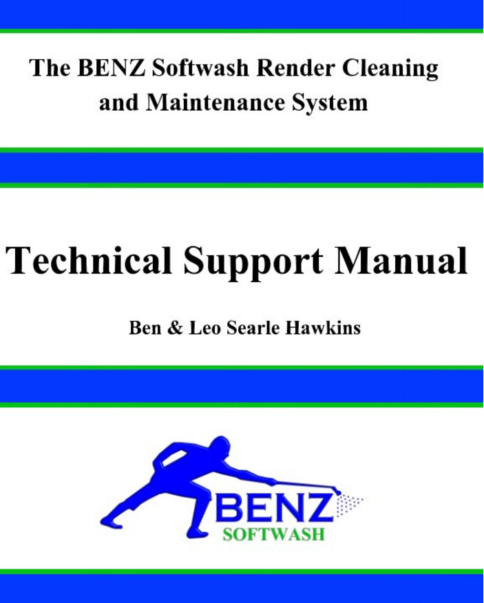 BENZ Softwash Render Cleaning and Maintenance System Manual Guide Paper Back Book