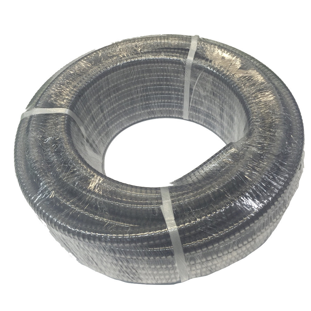 "Clear 3/4"" Wire Reinforced Low Pressure Hose"