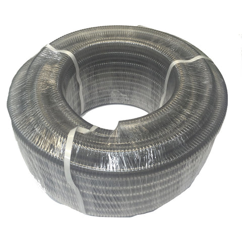 "Clear 1"" Wire Reinforced Low Pressure Hose"