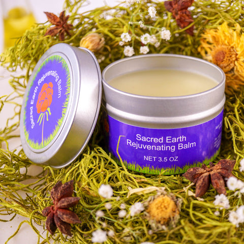 Sacred Earth Rejuvenating Balm - Best Selling Herbal Infusion for Healing and Beauty