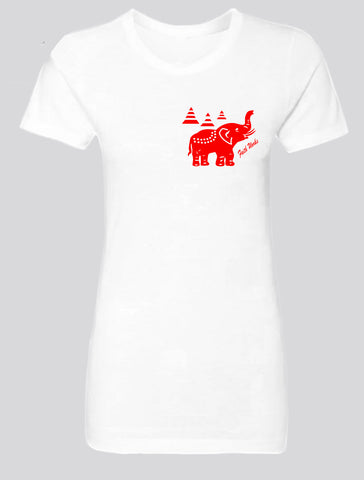 Elephant  (white/red)