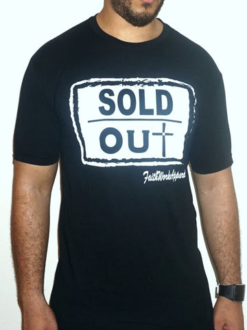 Sold Out Cross - (black / white)