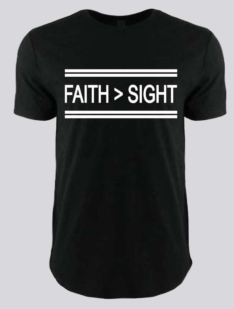 Faith > Sight  (black/white)