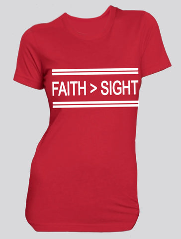 Faith > Sight  (red/white)