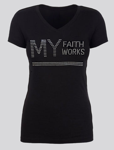 MY FAITH WORKS - Silver Rhinestones