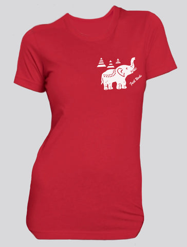 Elephant  (red/white)