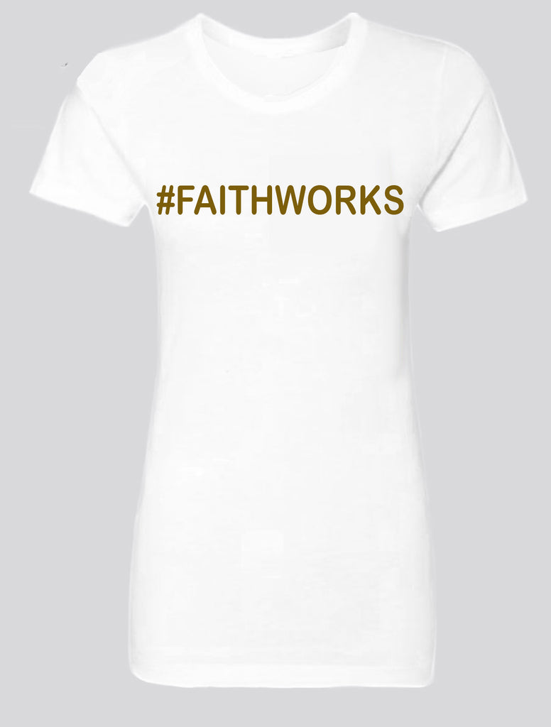 #FAITHWORKS White / Gold