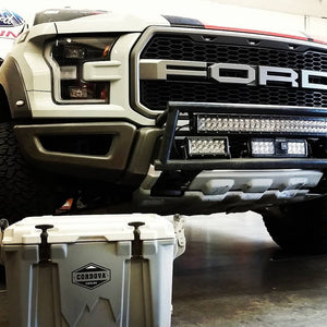2017 Ford Raptor Race truck front bumper light bar mount kit