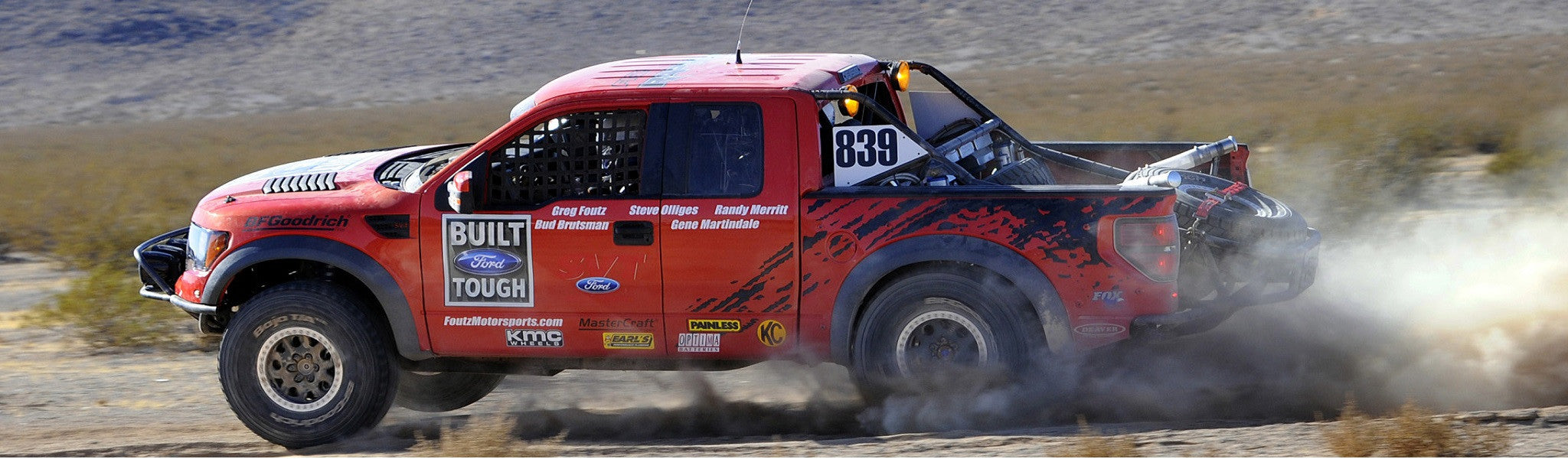 "The Ford Raptor ""R"" off-road race truck featured in the movie ""Raptor - Born in Baja"""