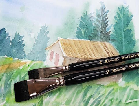 Raphael Series 916 Flat Brush