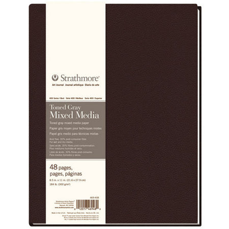 Strathmore Toned Gray Mixed Media Art Journal 48 Page Softcover - 190 gsm