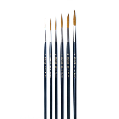 Isabey Series 6318 - Kolinsky - Long point lettering brush - Art Nebula