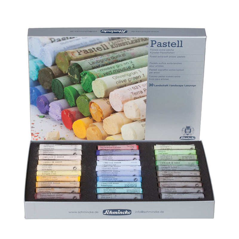 Schmincke Extra-Soft Pastel Landscape Set, Set of 30 Colors