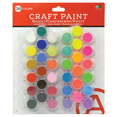 Art Advantage Basic, Fluorescent & Pearlescent 5 ml  Acrylic 36 Colors - Art Nebula