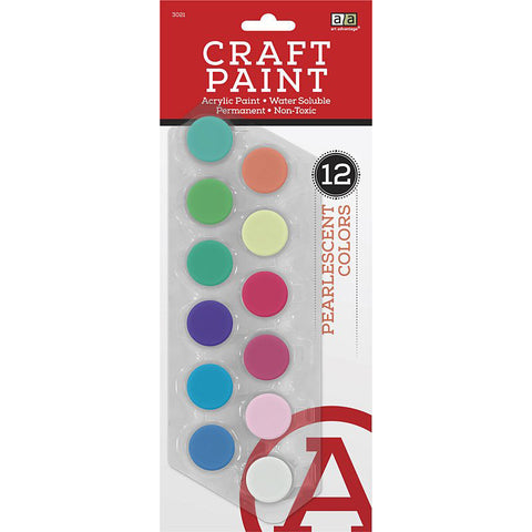 Art Advantage Pearl Colors 5 ml Acrylic Paint Pots 12 Color Set