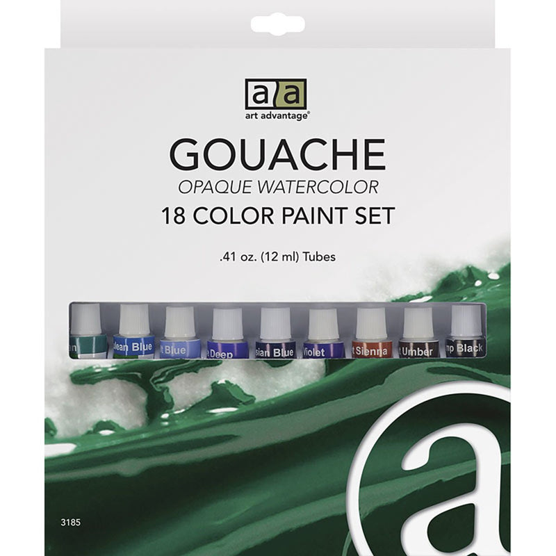 Art Advantage 12 ml Gouache Paint 18 Color Set Gouache Art Nebula