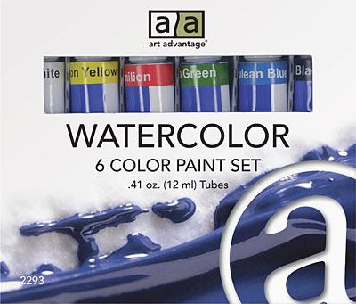 Art Advantage 12 ml Watercolor Paint 6 Color Set Watercolor Paint Art Nebula