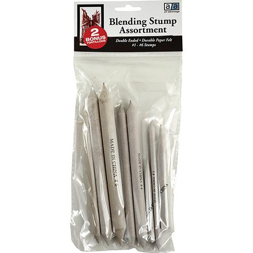 Art Advantage Assorted Blending Stumps Set Blending Tools Art Nebula
