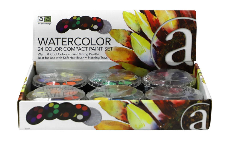 Art Advantage Paint Set Watercolor Compact 24 Color Watercolor Paint Art Nebula