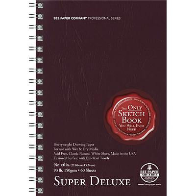 Bee Paper 93 lb. (150 gsm) AF Super Deluxe Mixed Media 60 Sheet Double Side Spiral Bound Pad Sketchbooks & Journals Art Nebula
