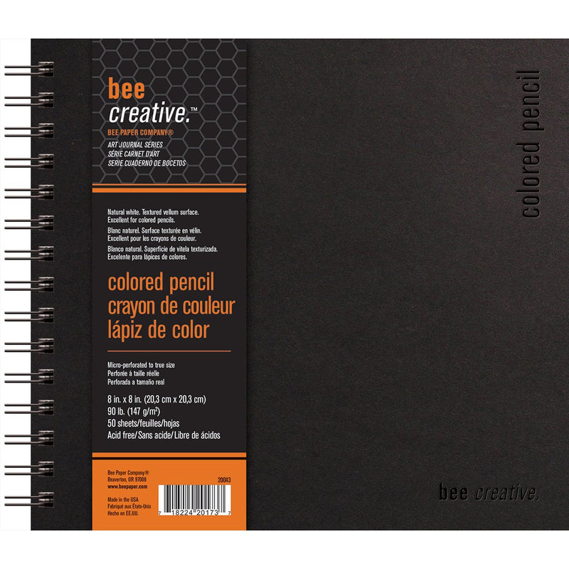 Bee Paper Colored Pencil Bee Creative Art Journal 90 lb. (147 gsm) 50 Sheet Double Wire Bound Book Sketchbooks & Journals Art Nebula
