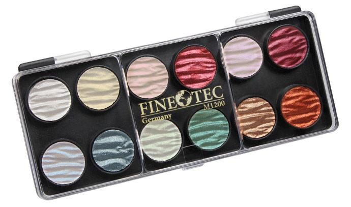 Coliro (made by Finetec GmbH Germany) M1200 - 12 Pearl Colors Watercolor Paint Art Nebula