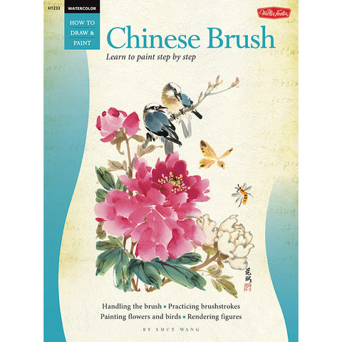 Walter Foster Chinese Brush Watercolor How to Draw & Paint Book - Art Nebula